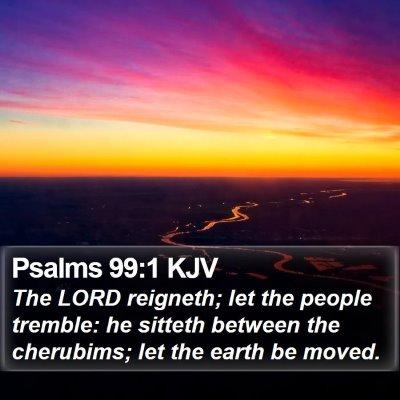 Psalms 99:1 KJV Bible Verse Image