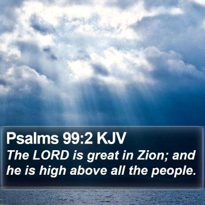 Psalms 99:2 KJV Bible Verse Image