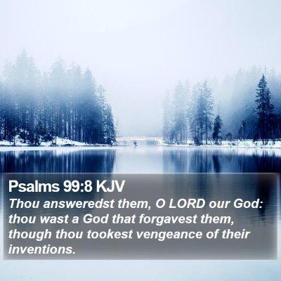 Psalms 99:8 KJV Bible Verse Image