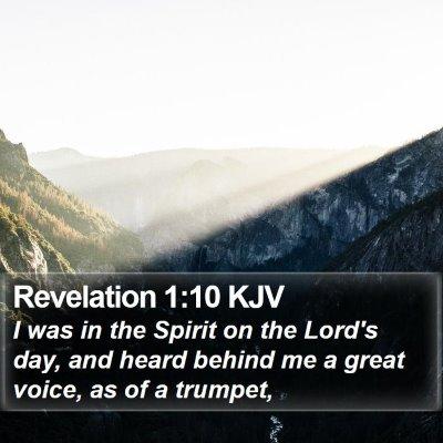 Revelation 1:10 KJV Bible Verse Image