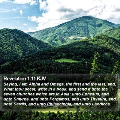 Revelation 1:11 KJV Bible Verse Image