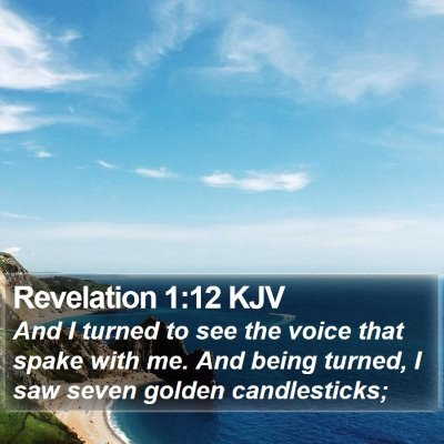 Revelation 1:12 KJV Bible Verse Image