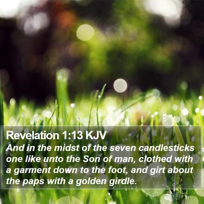 Revelation 1:13 KJV Bible Verse Image