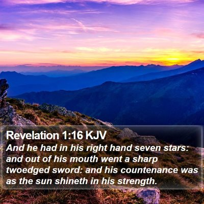 Revelation 1:16 KJV Bible Verse Image