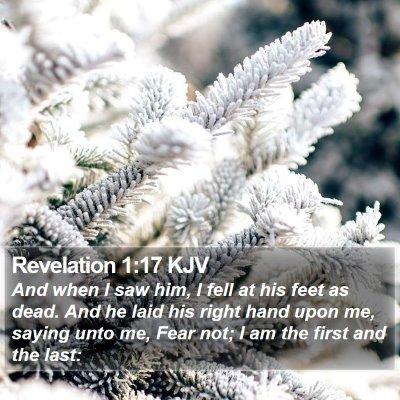 Revelation 1:17 KJV Bible Verse Image