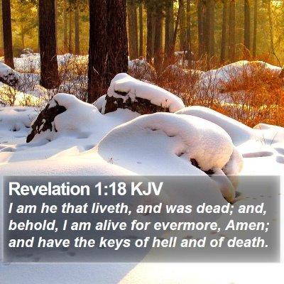 Revelation 1:18 KJV Bible Verse Image