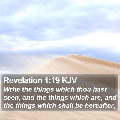 Revelation 1:19 KJV Bible Verse Image