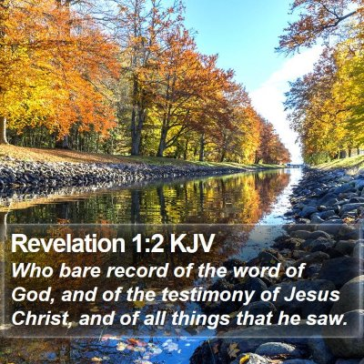 Revelation 1:2 KJV Bible Verse Image