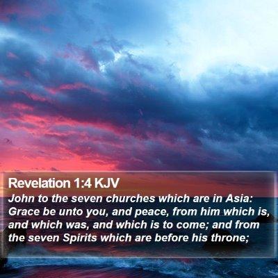 Revelation 1:4 KJV Bible Verse Image