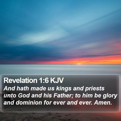 Revelation 1:6 KJV Bible Verse Image