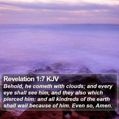 Revelation 1:7 KJV Bible Verse Image