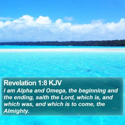 Revelation 1:8 KJV Bible Verse Image