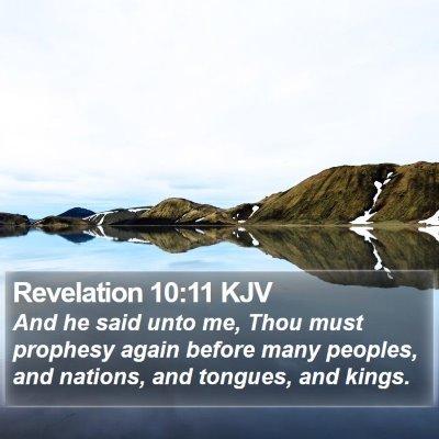 Revelation 10:11 KJV Bible Verse Image