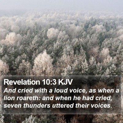 Revelation 10:3 KJV Bible Verse Image