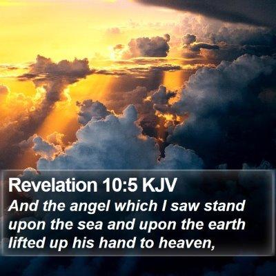 Revelation 10:5 KJV Bible Verse Image