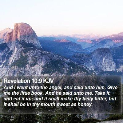 Revelation 10:9 KJV Bible Verse Image
