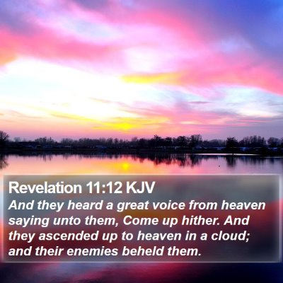 Revelation 11:12 KJV Bible Verse Image