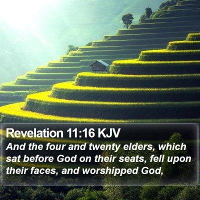 Revelation 11:16 KJV Bible Verse Image