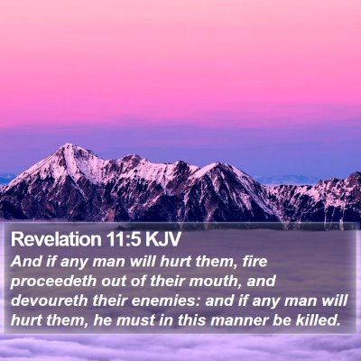 Revelation 11:5 KJV Bible Verse Image