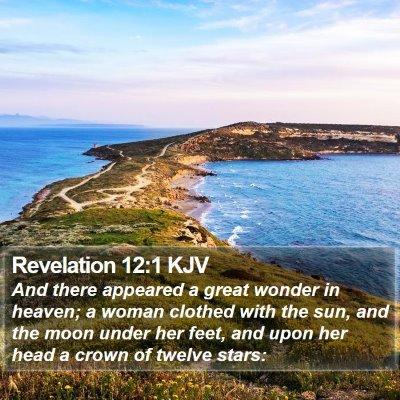Revelation 12:1 KJV Bible Verse Image