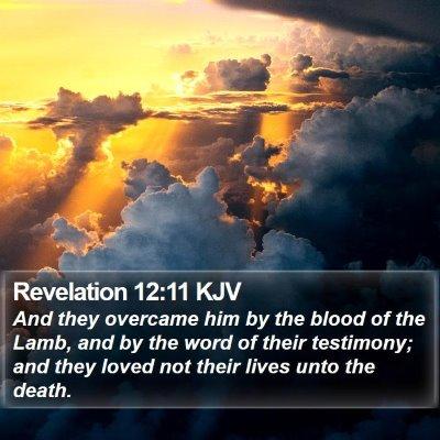 Revelation 12:11 KJV Bible Verse Image