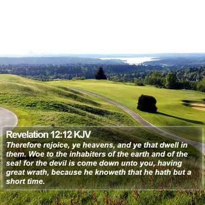 Revelation 12:12 KJV Bible Verse Image