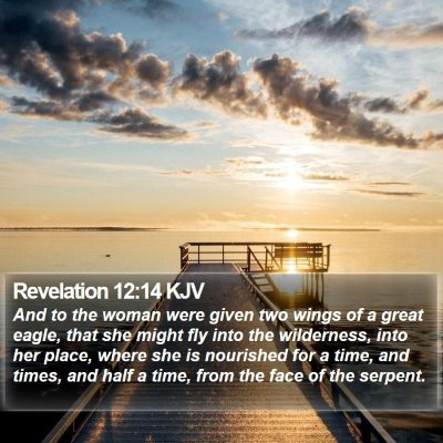 Revelation 12:14 KJV Bible Verse Image