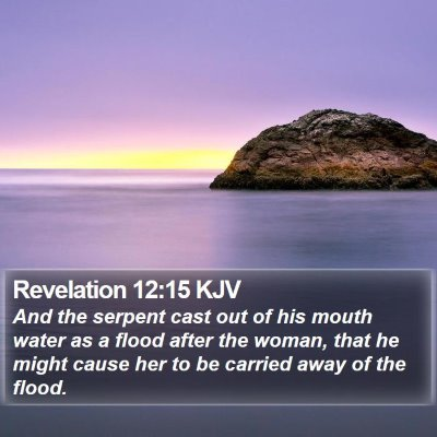 Revelation 12:15 KJV Bible Verse Image