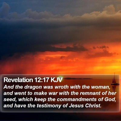 Revelation 12:17 KJV Bible Verse Image