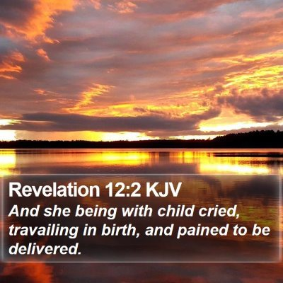 Revelation 12:2 KJV Bible Verse Image