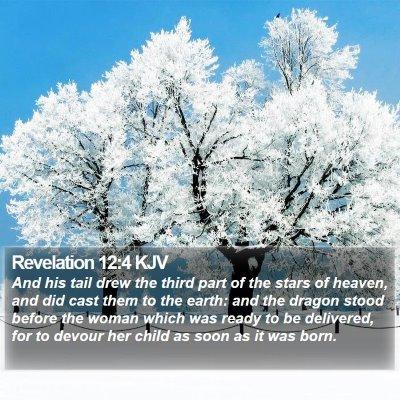 Revelation 12:4 KJV Bible Verse Image