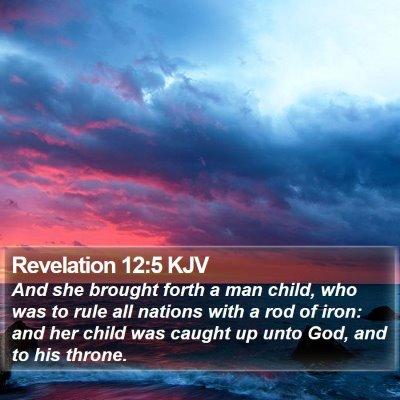 Revelation 12:5 KJV Bible Verse Image