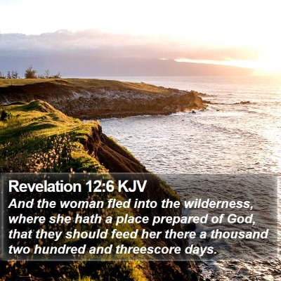 Revelation 12:6 KJV Bible Verse Image
