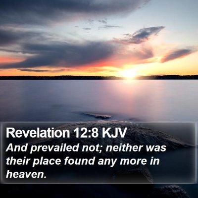 Revelation 12:8 KJV Bible Verse Image