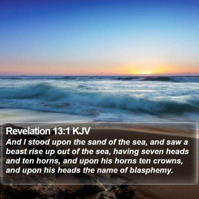 Revelation 13:1 KJV Bible Verse Image