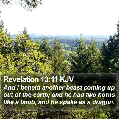 Revelation 13:11 KJV Bible Verse Image
