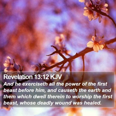 Revelation 13:12 KJV Bible Verse Image