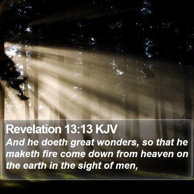 Revelation 13:13 KJV Bible Verse Image