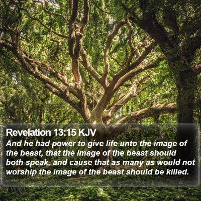 Revelation 13:15 KJV Bible Verse Image