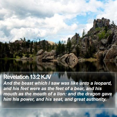 Revelation 13:2 KJV Bible Verse Image