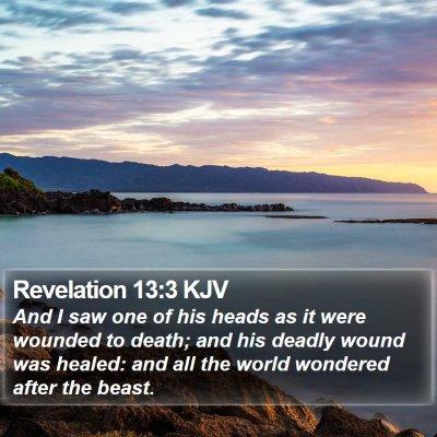 Revelation 13:3 KJV Bible Verse Image