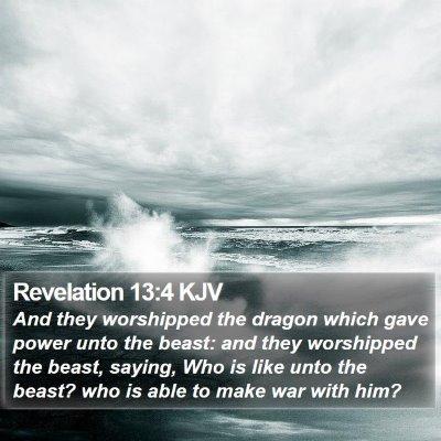 Revelation 13:4 KJV Bible Verse Image