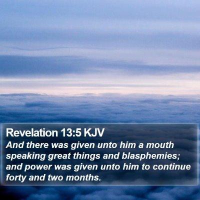 Revelation 13:5 KJV Bible Verse Image