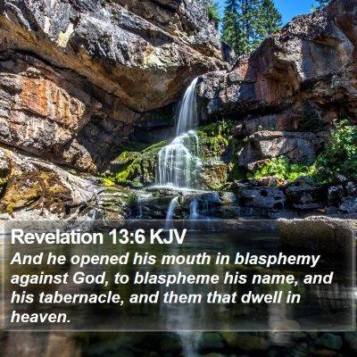 Revelation 13:6 KJV Bible Verse Image