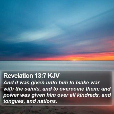 Revelation 13:7 KJV Bible Verse Image