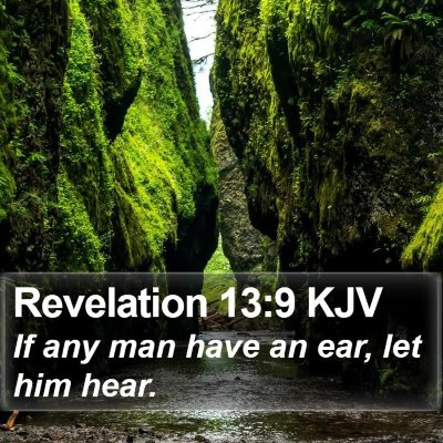 Revelation 13:9 KJV Bible Verse Image