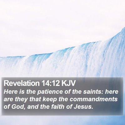 Revelation 14:12 KJV Bible Verse Image