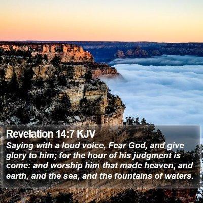 Revelation 14:7 KJV Bible Verse Image