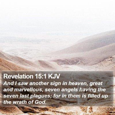 Revelation 15:1 KJV Bible Verse Image