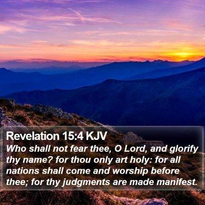 Revelation 15:4 KJV Bible Verse Image
